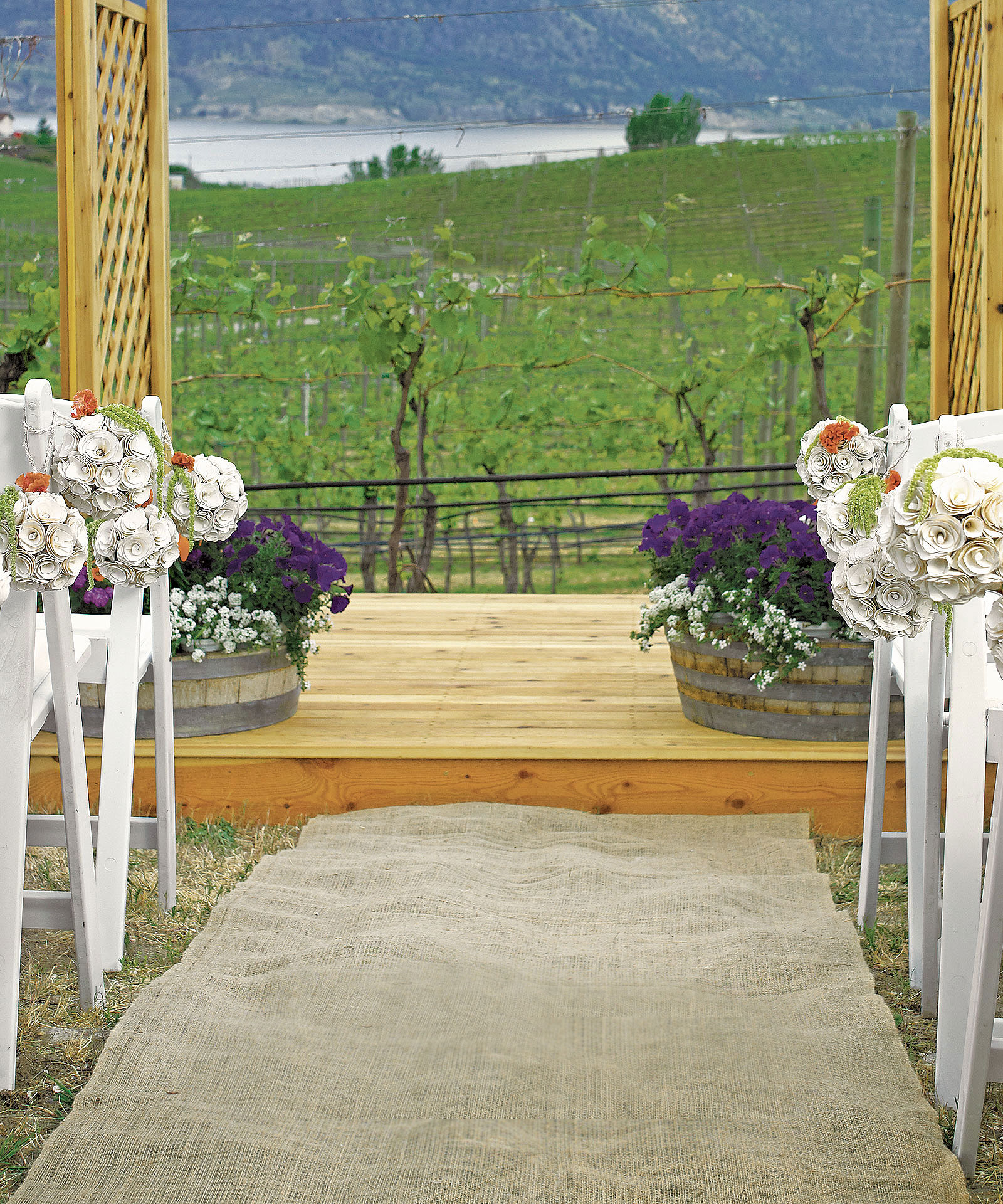 Burlap Outdoor Wedding Ceremony Aisle Runner Natural Eco